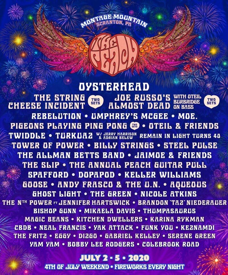 The Peach Music Festival 2020 Lineup