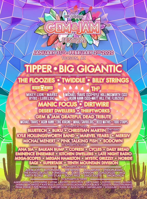 Gem and Jam Festival Lineup 2020
