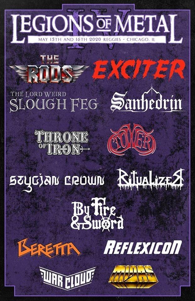 Legions of Metal Fest 2020 Lineup