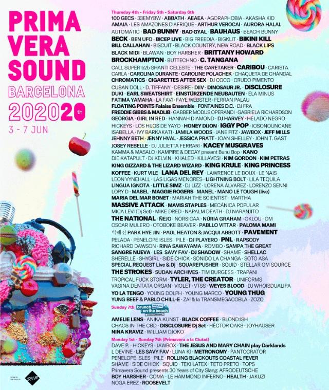 Primavera Sound Festival Lineup