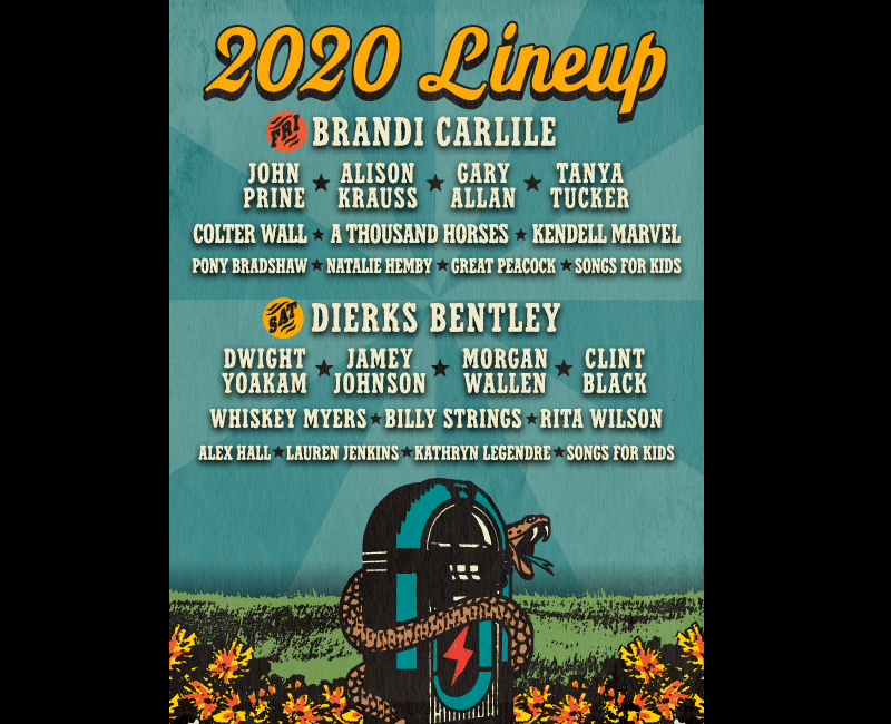 Shaky Boots Festival Lineup 2020