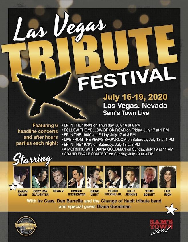 Las Vegas Tribute Festival Lineup 2020