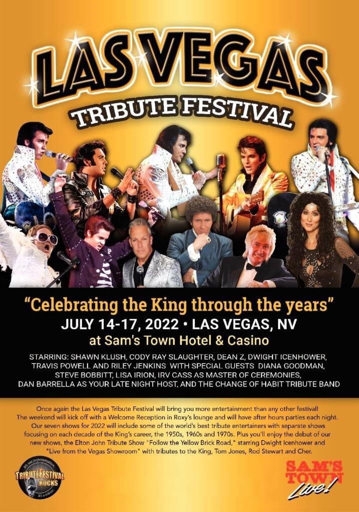 Las Vegas Tribute Festival Lineup 2021