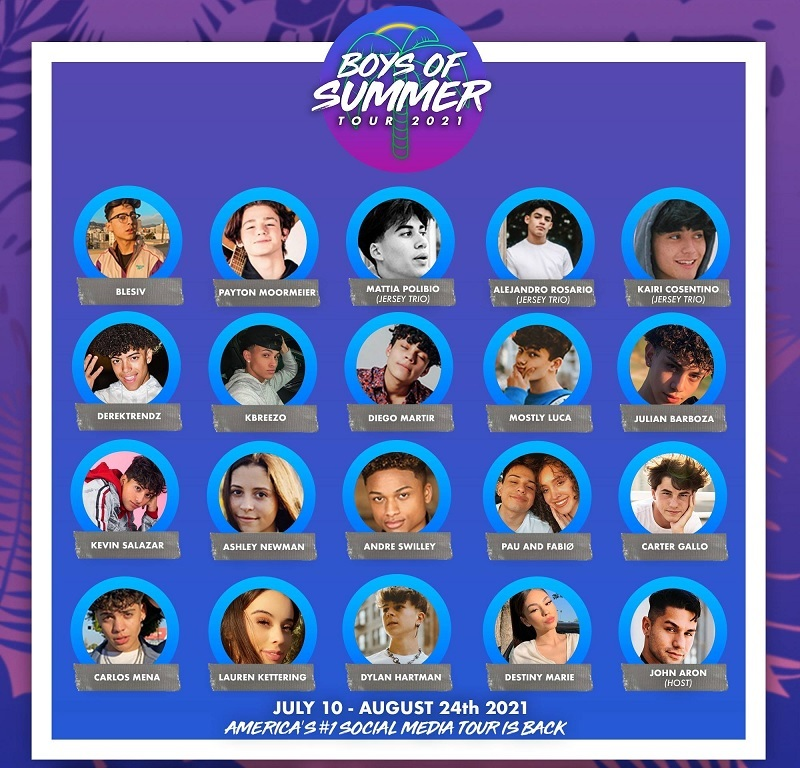 Boys of Summer Tour 2021 Lineup