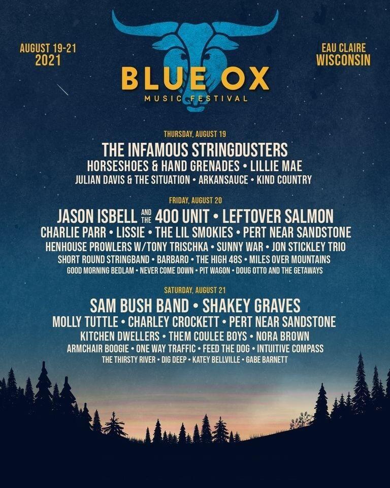 Blue Ox Music Festival Lineup 2021