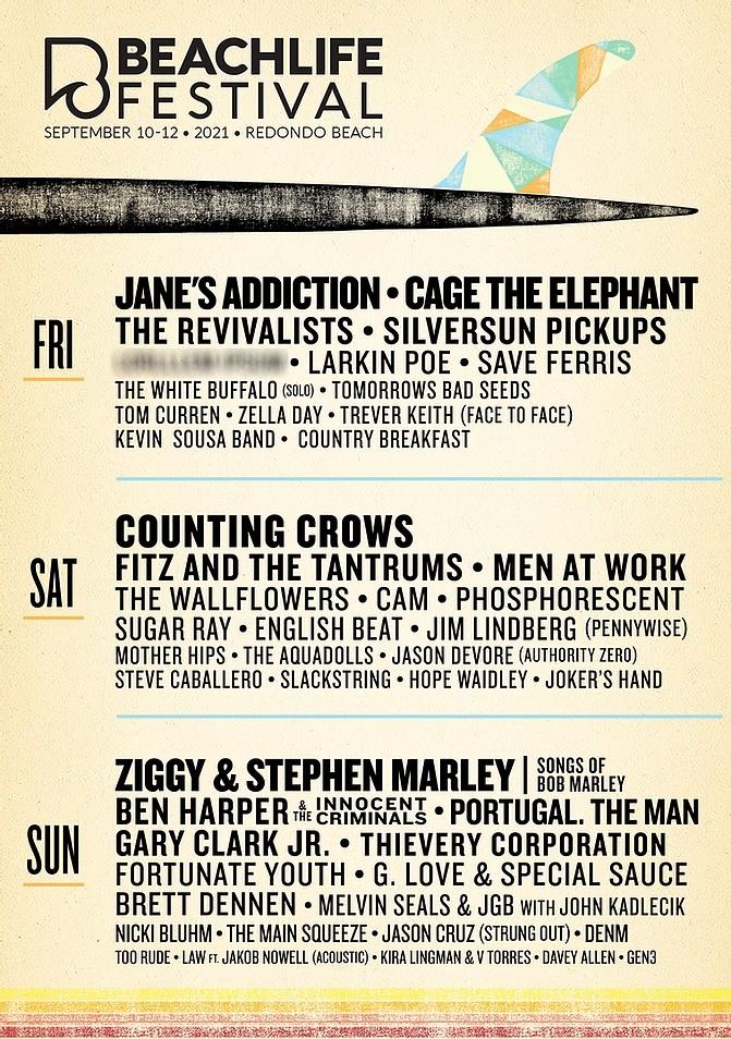 Beachlife Festival Lineup 2021