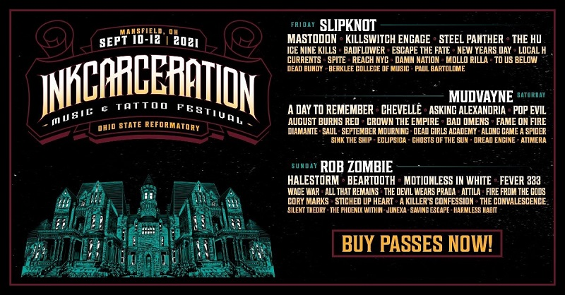 InkCarceration Festival Lineup 2021