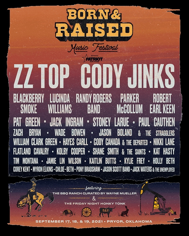 Born & Raised Music Festival Lineup 2021