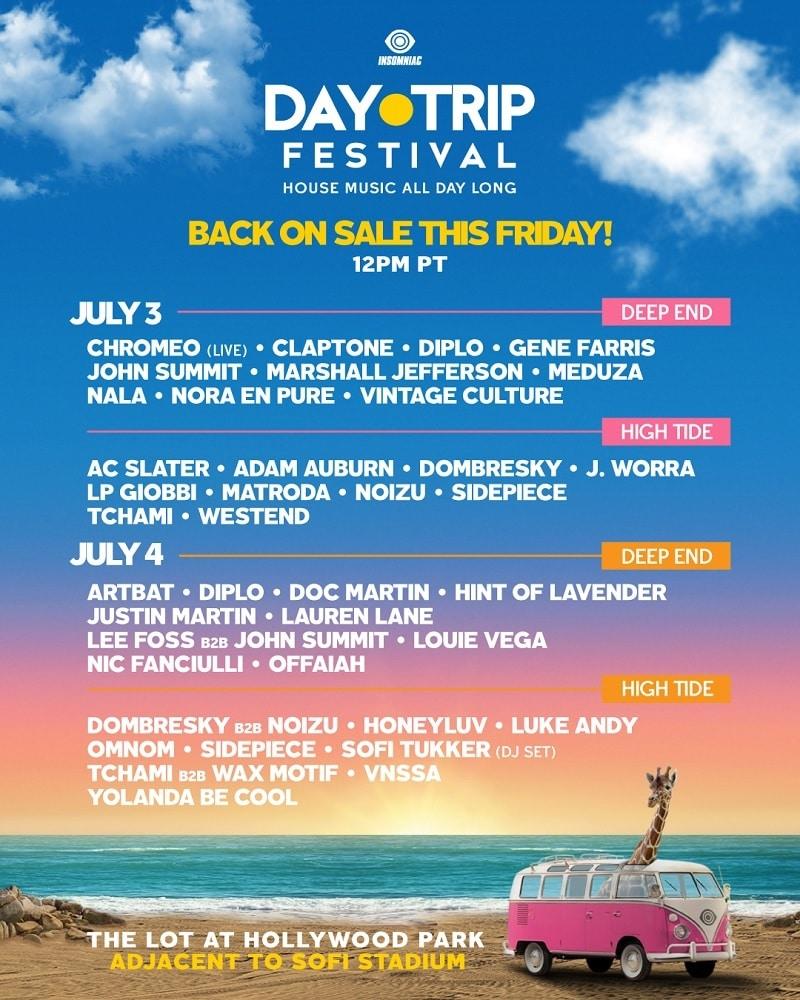 Day Trip LA Fest Lineup 2021