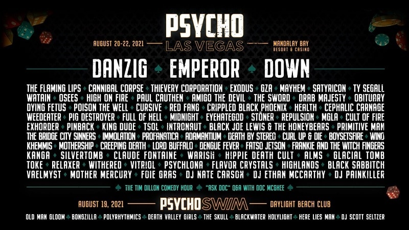 Psycho Las Vegas Lineup 2021