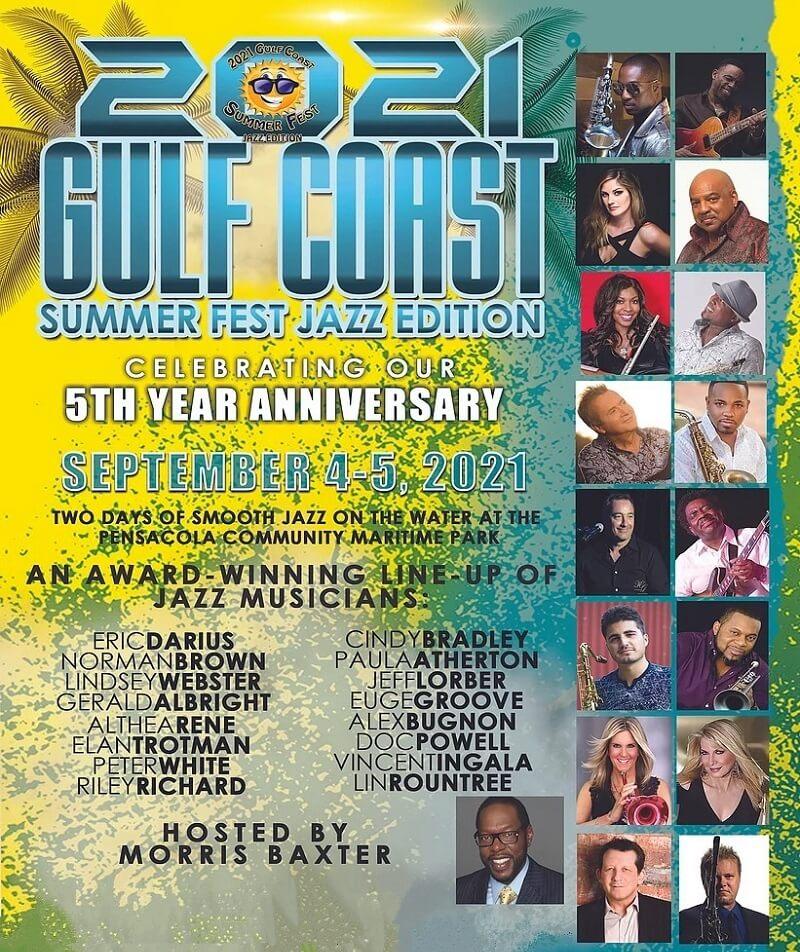 Gulf Coast Summer Fest Lineup 2021