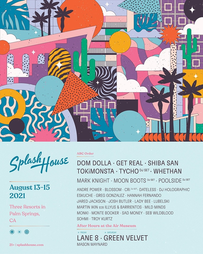 Splash House Weekend 1 Lineup 2021