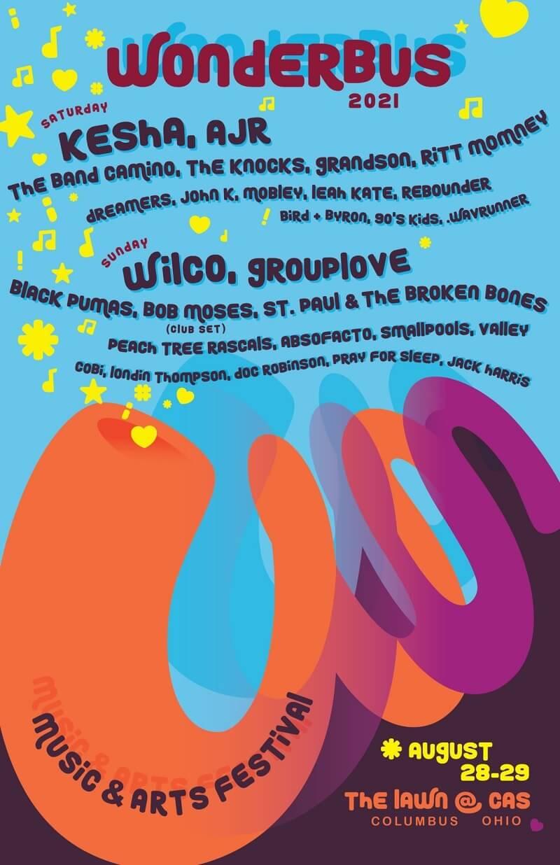 Wonderbus Music and Arts Festival Lineup 2021