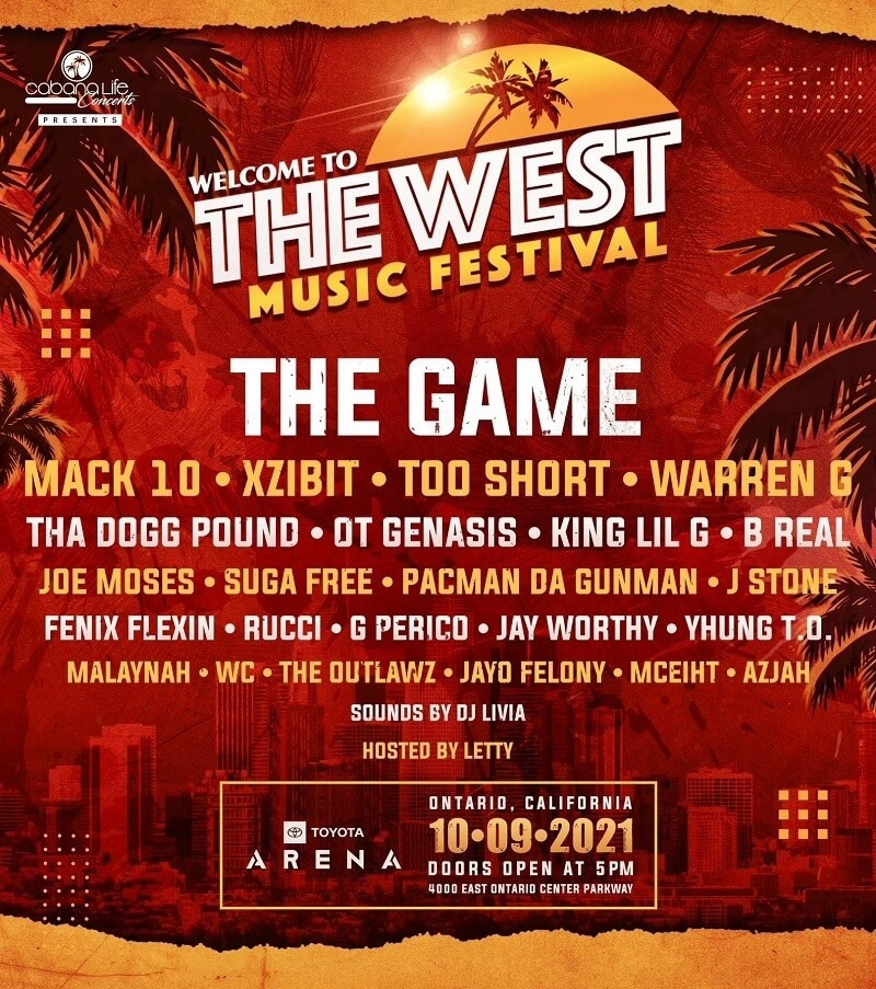 Welcome to the West Music Festival Lineup 2021