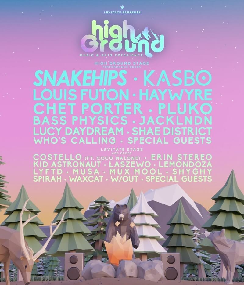 High Ground Music and Arts Experience Lineup 2021