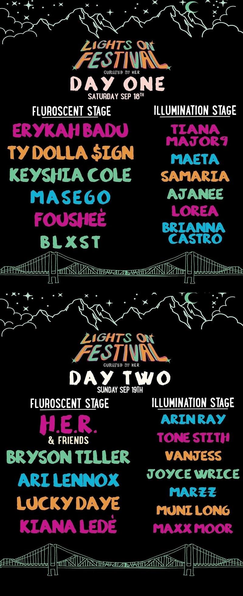 Lights On Festival Lineup 2021