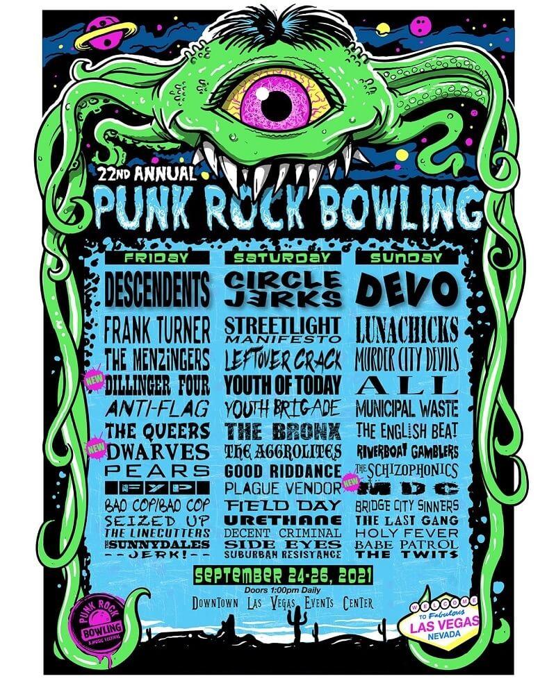 Punk Rock Bowling & Music Festival Lineup 2021