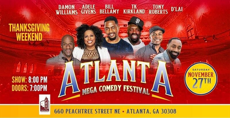 Atlanta Mega Comedy Festival Lineup 2021