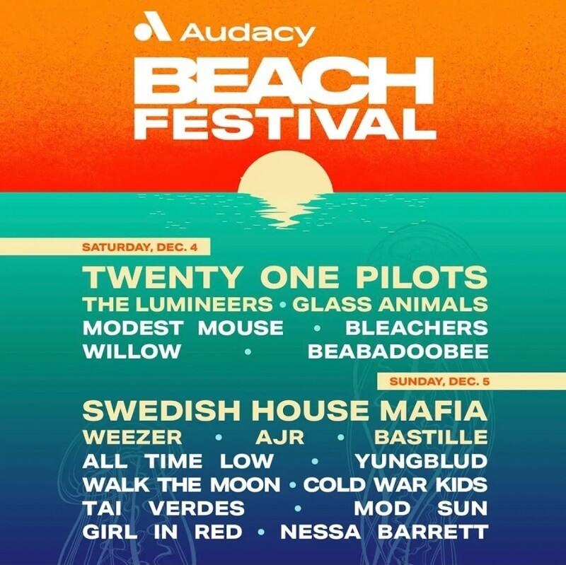 Audacy Beach Festival Lineup 2021